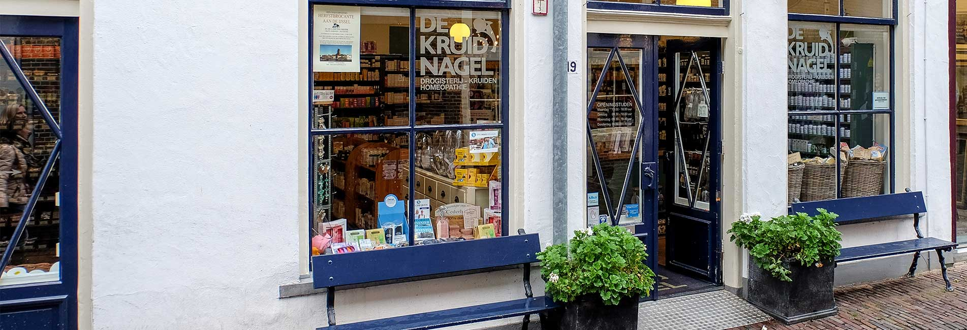 Welkom bij Drogisterij De Kruidnagel. Bekijk hier onze winkel