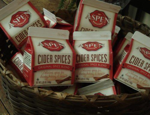 Wij hebben de originele Aspen mulling cider spices in huis